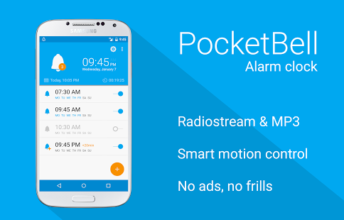 radio alarm clock pocketbell apk thing android apps free download. Black Bedroom Furniture Sets. Home Design Ideas