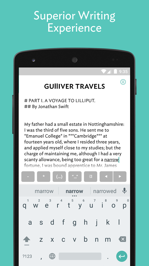write apps for android Best android apps for writers jotterpad (writer) the jotterpad is an awesome android app for creative writers, which comes with several features to make your tasks easier this plain text editor helps writers to write, draft, revise and edit their creative work on the.