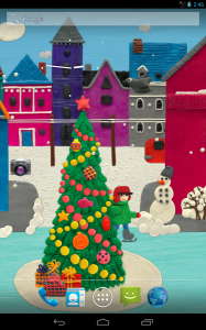 KM Winter town Live wallpaper