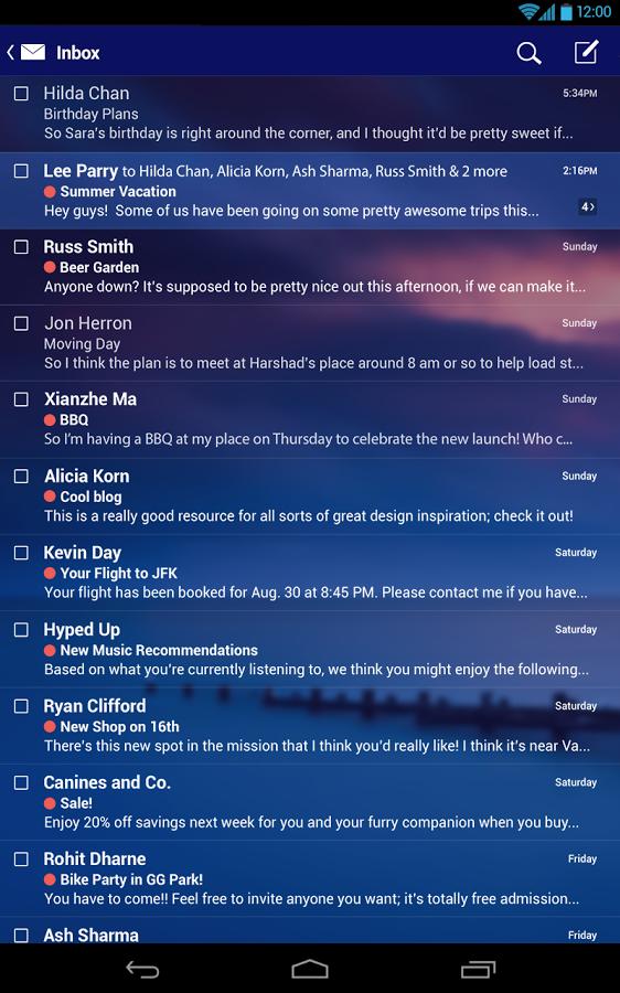 Приложение mail на android
