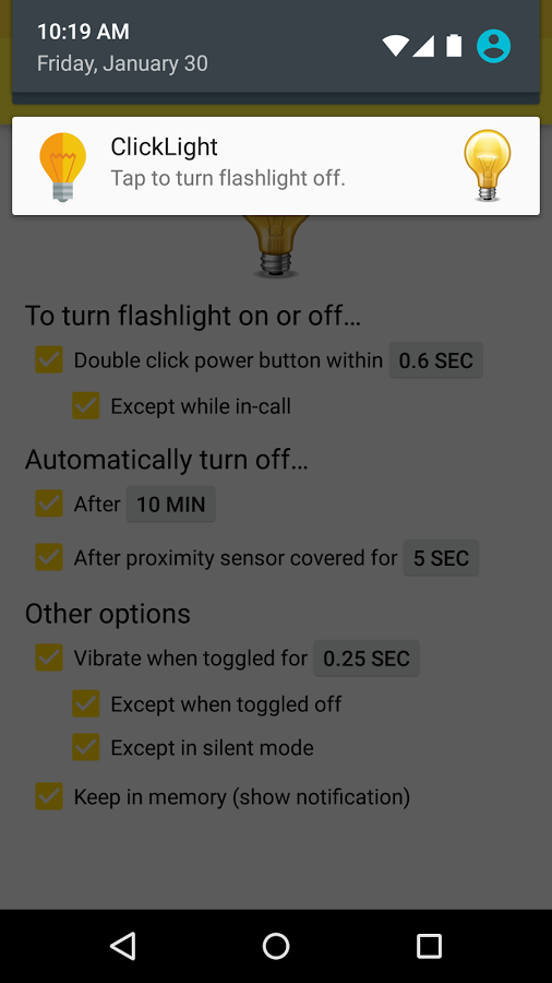 how to turn off screen notification when playing games android