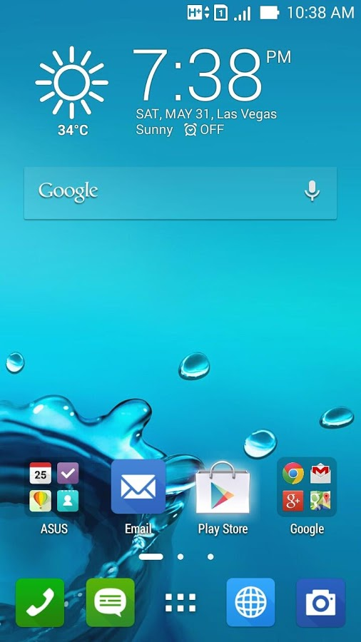 Android asus weather widget not Updating