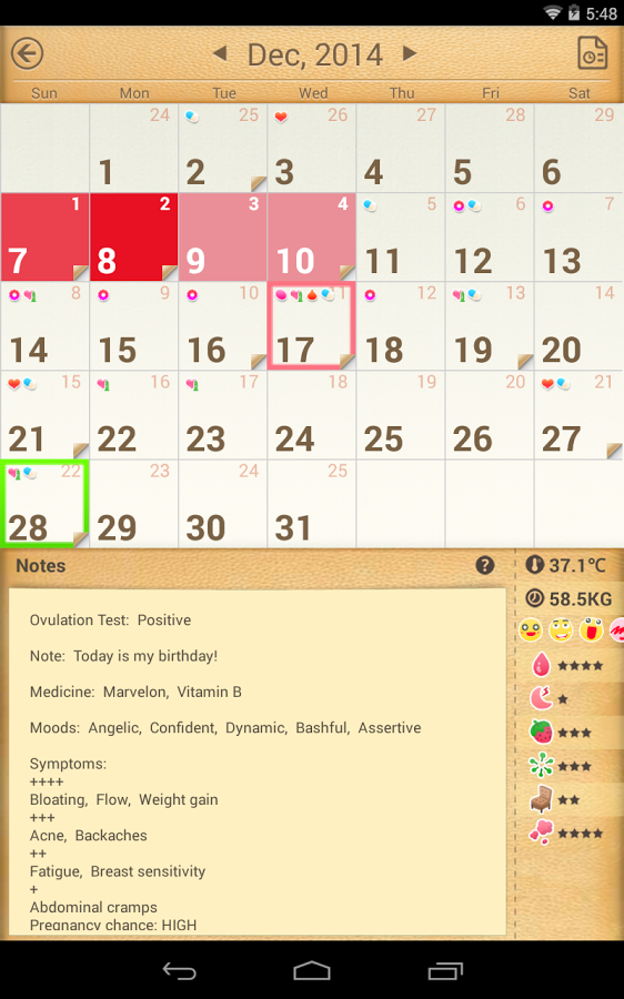 Period Calendar / Tracker » Apk Thing - Android Apps Free ... Menstrual Cycle Calendar App