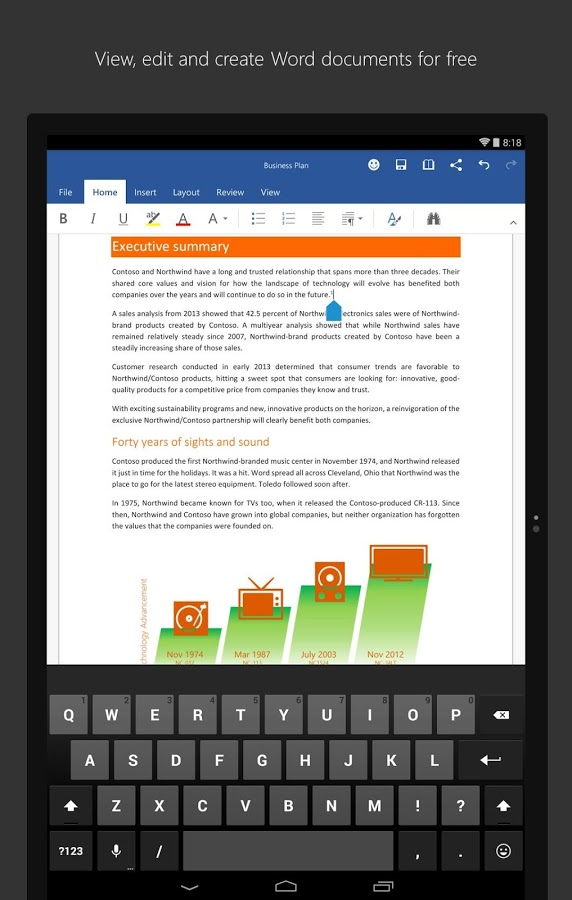 how to get microsoft word on android tablet