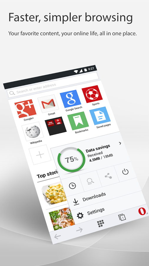 download opera mini beta apk