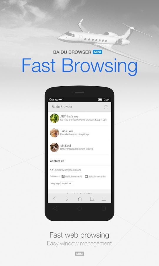 Baidu Browser Mini(Small&Fast) » Apk Thing - Android Apps