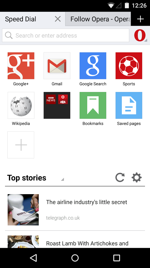 Opera Mini web browser » Apk Thing - Android Apps Free Download