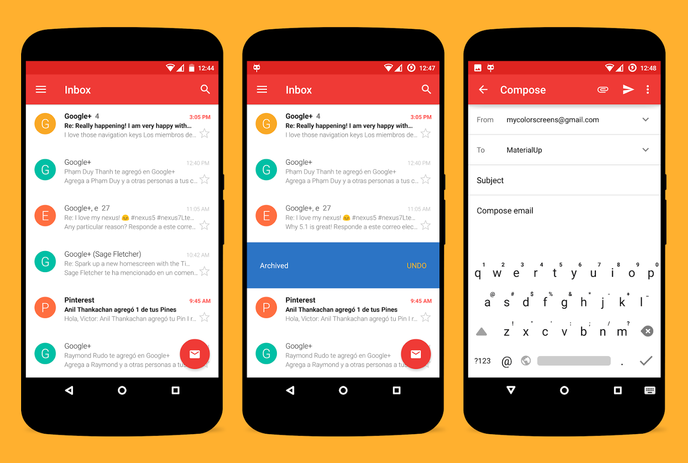 Gmail love theme -  Materialup Theme For Cm12