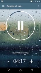 Relaxing sounds of rain