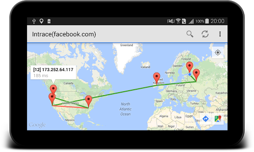 Intrace - Visual traceroute » Apk Thing - Android Apps Free