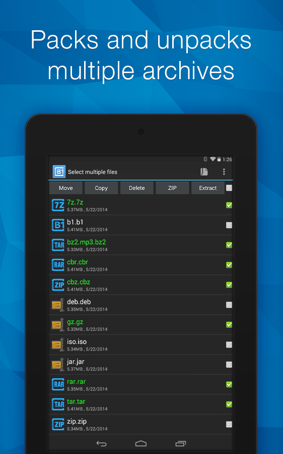 B1 Archiver zip rar unzip » Apk Thing - Android Apps Free Download