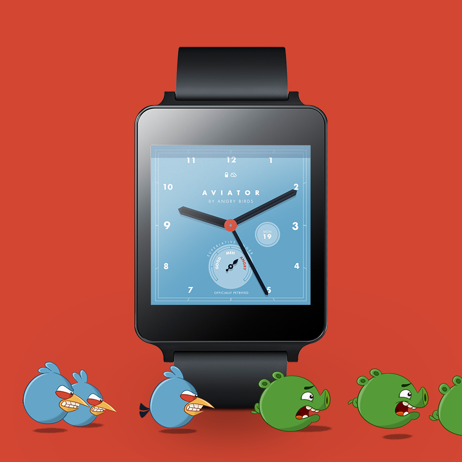 Angry Birds Aviator Watch Face » Apk Thing - Android Apps Free Download