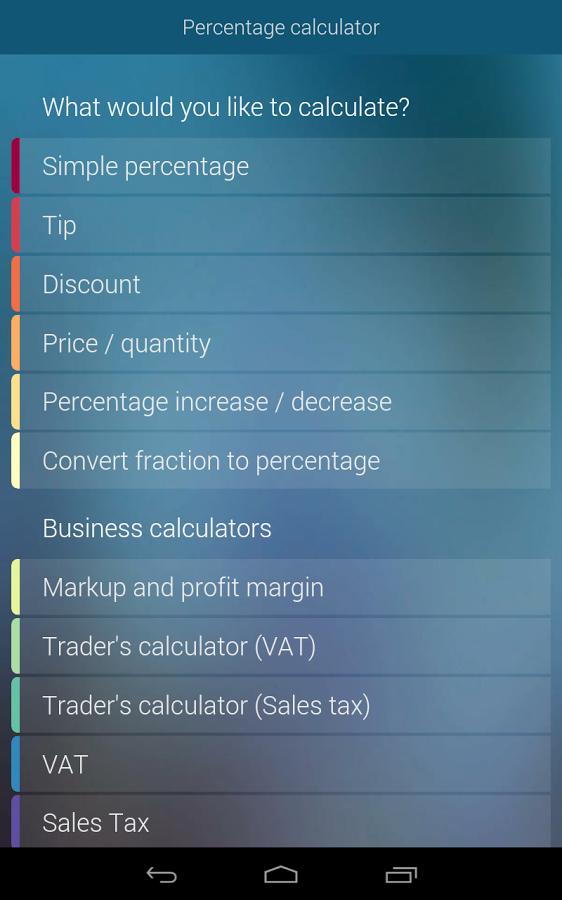 percentage calculator apk thing android apps free download