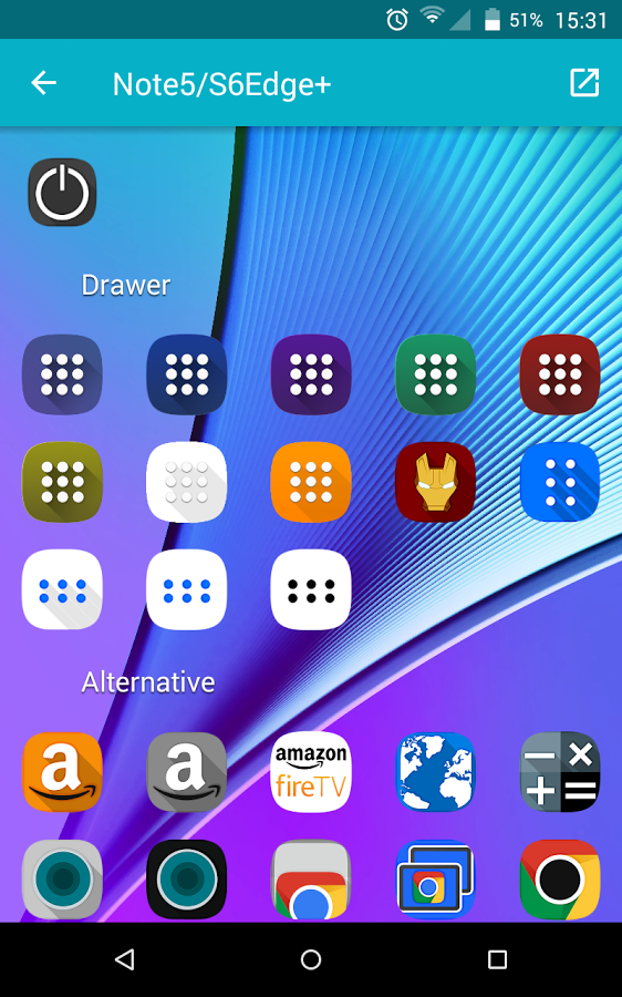 Note 5/S6 Edge + - Icon Pack » Apk Thing - Android Apps Free