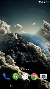 Space Clouds 3D live wallpaper