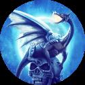 Dragon on Skull Live Wallpaper