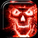 Fiery Skull Skeleton Live WP