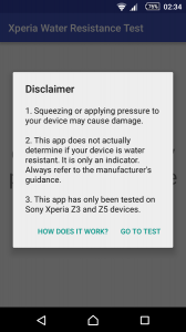 Xperia Water Resistance Test