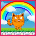 Kitten and food:adventure park