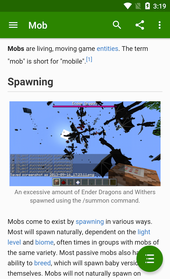 Official Minecraft Wiki Apk Thing Android Apps Free Download