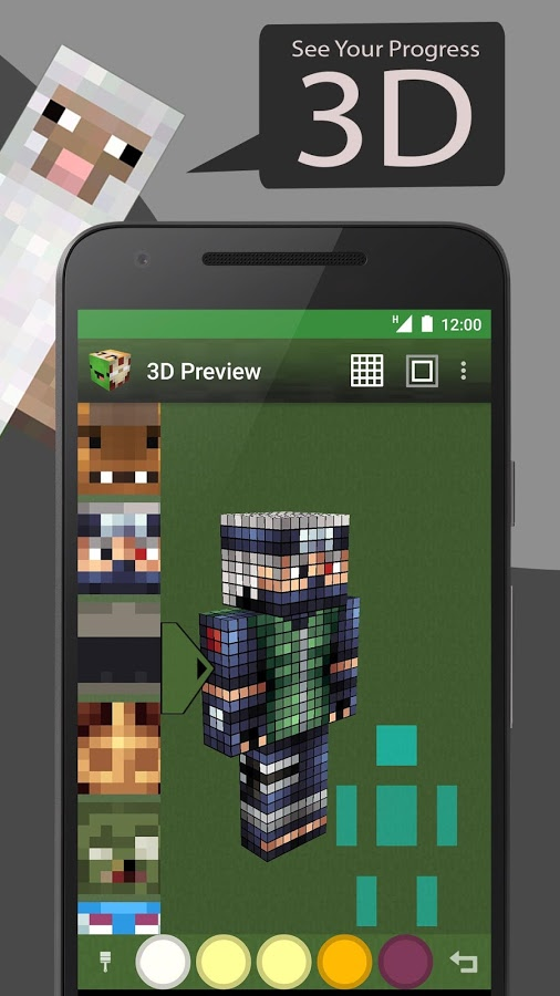 Skin Editor Tool For Minecraft 187 Apk Thing Android Apps