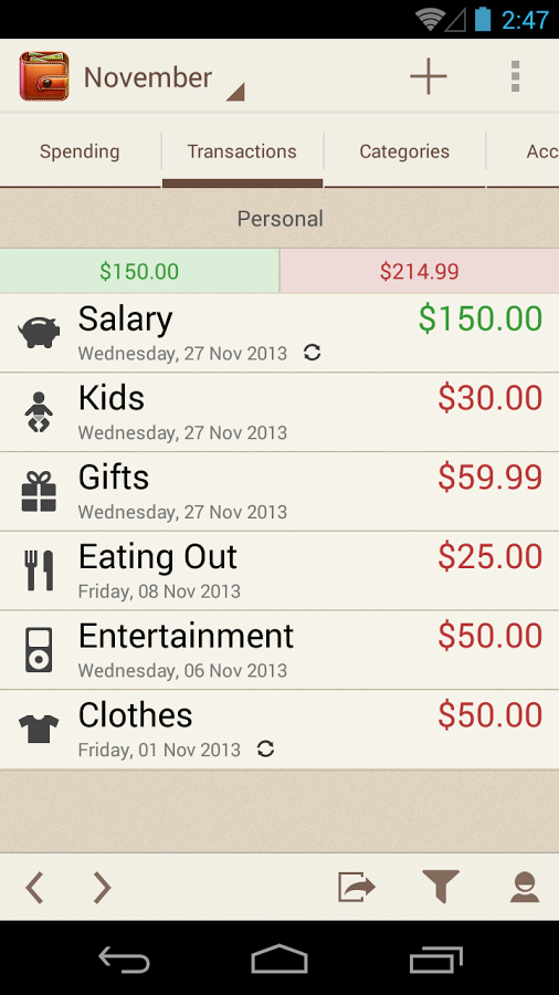 spending tracker apk thing android apps free download