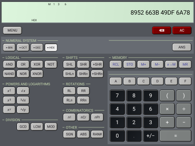 HiPER Scientific Calculator