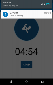 Move-Up - Sitting Timer