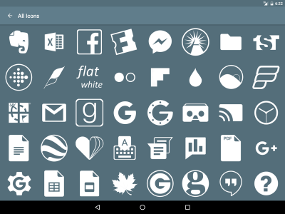 Flat White Icon Pack