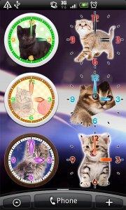 Cats Analog-Clocks Widget