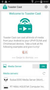 Toaster Cast DLNA UPnP Player