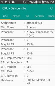 CPU - Device Info