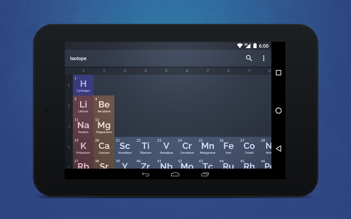 isotope periodic table - Periodic Table Droid Apk