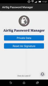 AirSig Password Manager