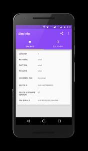 SIM Card & Cell Network Info