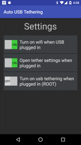 Auto USB Tethering