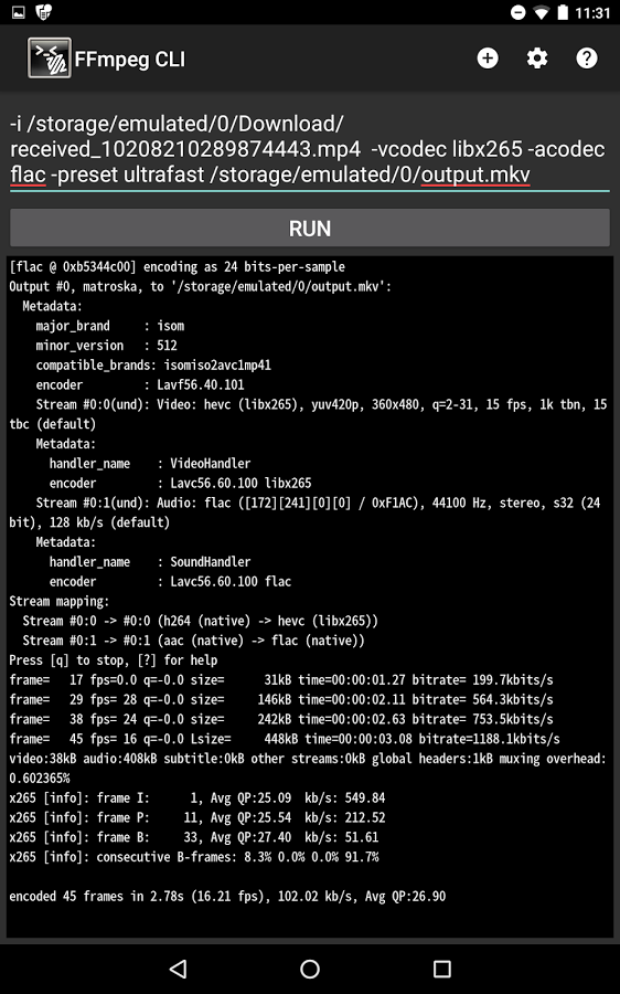 FFmpeg CLI » Apk Thing - Android Apps Free Download