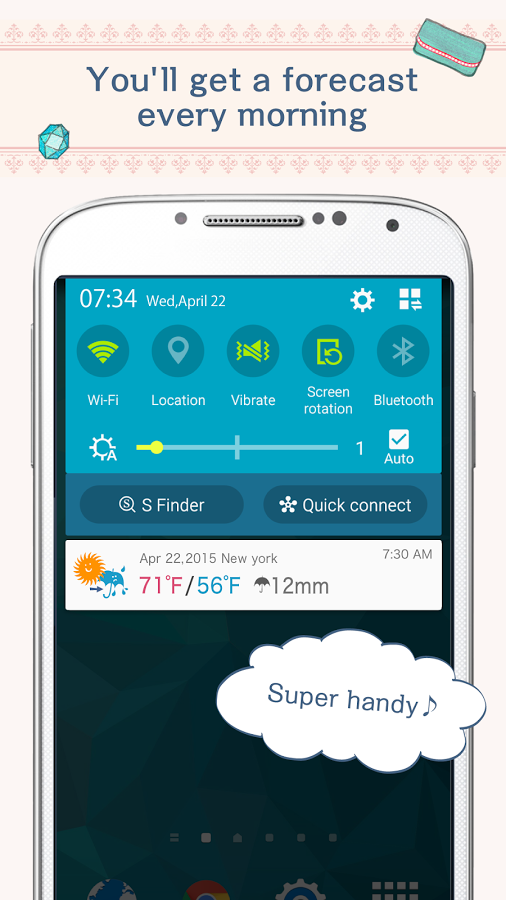 OshareWeather - For cute girls » Apk Thing - Android Apps