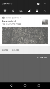 Camera Quick Settings Tile