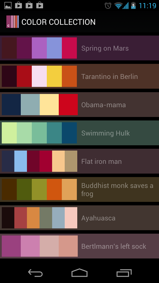 Color Collection Palettes Apk Thing Android Apps Free