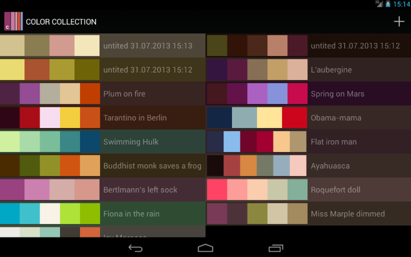 color collection  palettes  u00bb apk thing