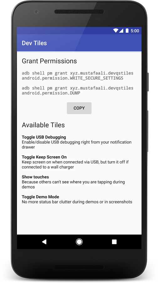 Dev Quick Settings Tiles » Apk Thing - Android Apps Free