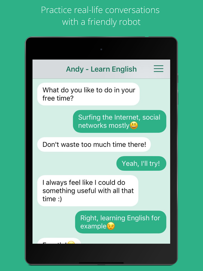 App to chat in english